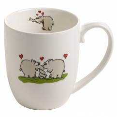 OTTIFANTEN Kaffeebecher Motiv 5 300 ml, Bone China Porzellan, in Geschenkbox