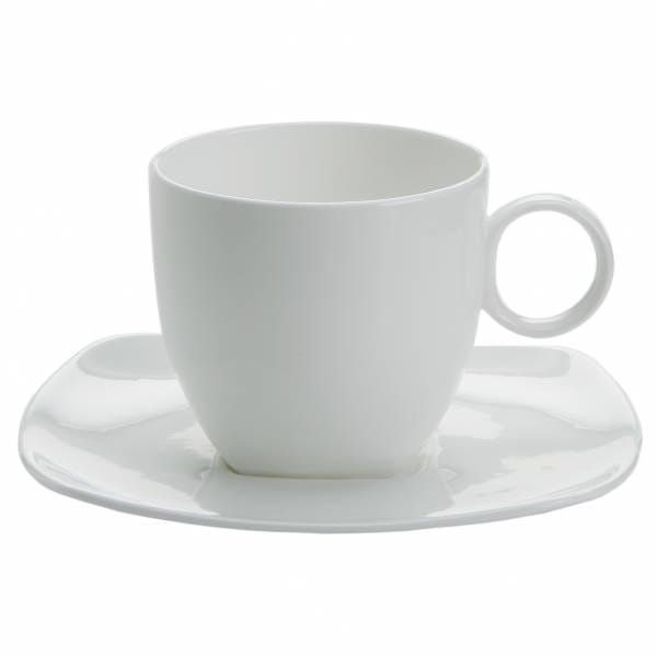 CASHMERE SQUARE Tasse mit Untertasse 260 ml, Bone China Porzellan