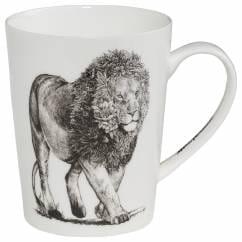 MARINI FERLAZZO Becher African Lion, Premium-Keramik, in Geschenkbox