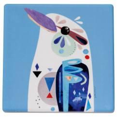 PETE CROMER Topfuntersetzer Kookaburra, 20 cm, Keramik - Kork