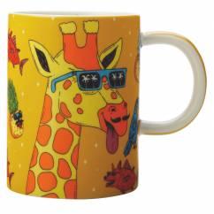 MULGA Becher Giraffe, Porzellan, in Geschenkbox