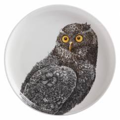 MARINI FERLAZZO Teller 20 cm, Owl, Premium-Keramik, in Geschenkbox