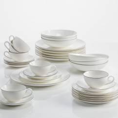 EDGE Kaffee- und Tafelset 30-teilig, Premium-Keramik, in Geschenkbox