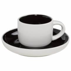 TINT Espressotasse mit Untertasse Schwarz, Porzellan