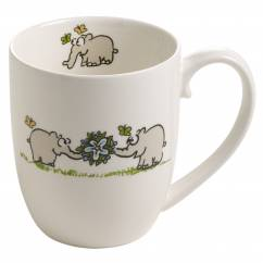 OTTIFANTEN Kaffeebecher Motiv 1 300 ml, Bone China Porzellan, in Geschenkbox