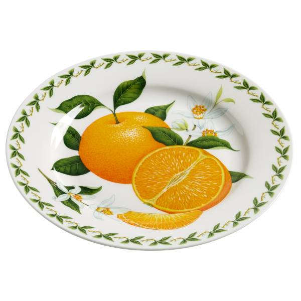 ORCHARD FRUITS Teller Orange, 20 cm, Bone China Porzellan, in Geschenkbox