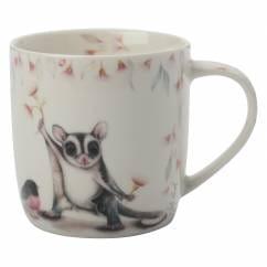 SALLY HOWELL Becher in Dose Ringtail Possum/Robin, Porzellan - Metall