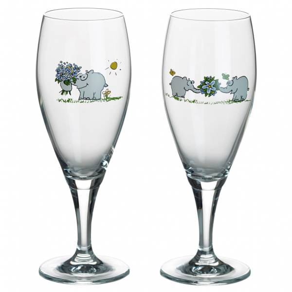 OTTIFANTEN Bierglas 2er Set 350 ml, Glas, in Geschenkbox