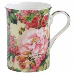 ROYAL OLD ENGLAND Becher Wildrose, Bone China Porzellan, in Geschenkbox