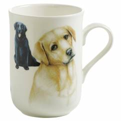 PETS Becher Labrador Hund, Bone China Porzellan, in Geschenkbox