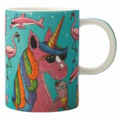 MULGA Becher Unicorn, Porzellan, in Geschenkbox
