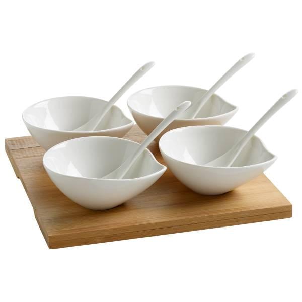 GIFTS Tasting-Set 9-teilig, Porzellan - Holz, in Geschenkbox