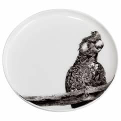 MARINI FERLAZZO Teller Carnaby Cockatoo, 20 cm, Bone China Porzellan, in Geschenkbox