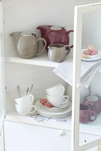 INFUSIONST Stövchen Weiß, 17,5 cm, Keramik, in Geschenkbox