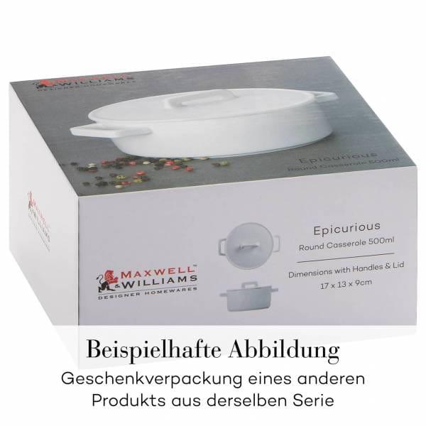 EPICURIOUS Kasserolle 1,3 l, Porzellan, in Geschenkbox
