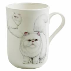 PETS Becher Perser Katze, Bone China Porzellan, in Geschenkbox
