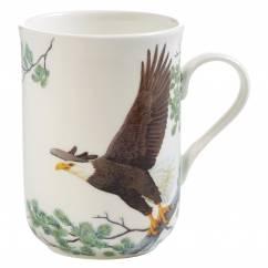 BIRDS OF THE WORLD Becher Adler, Bone China Porzellan, in Geschenkbox