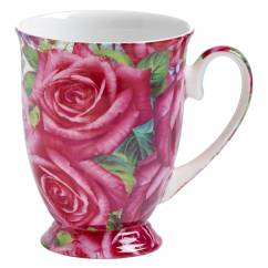ROYAL OLD ENGLAND Becher Edelrose, Bone China Porzellan, in Geschenkbox