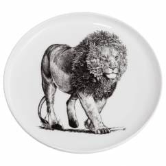 MARINI FERLAZZO Teller 20cm, African Lion, Premium-Keramik, in Geschenkbox