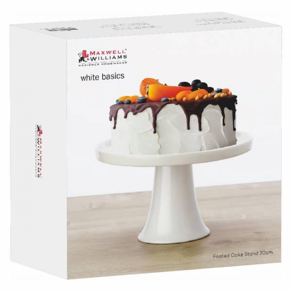 ACCESSOIRES Tortenplatte auf Fuß 20 cm, Porzellan, in Geschenkbox
