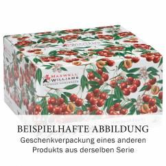 ORCHARD FRUITS Frühstückstasse mit Untertasse Brombeere, Bone China Porzellan, in Geschenkbox