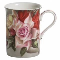 ROYAL OLD ENGLAND Becher Blumenstrauß, Bone China Porzellan, in Geschenkbox